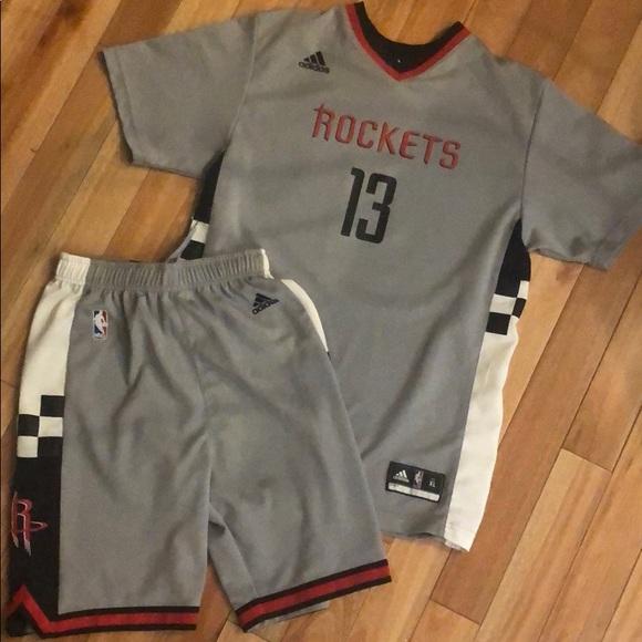 buy online cf4ad 35707 James Harden Adidas Kids Jersey XL & Shorts L